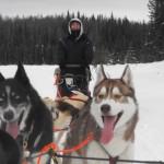 Bodhi's first sled run!