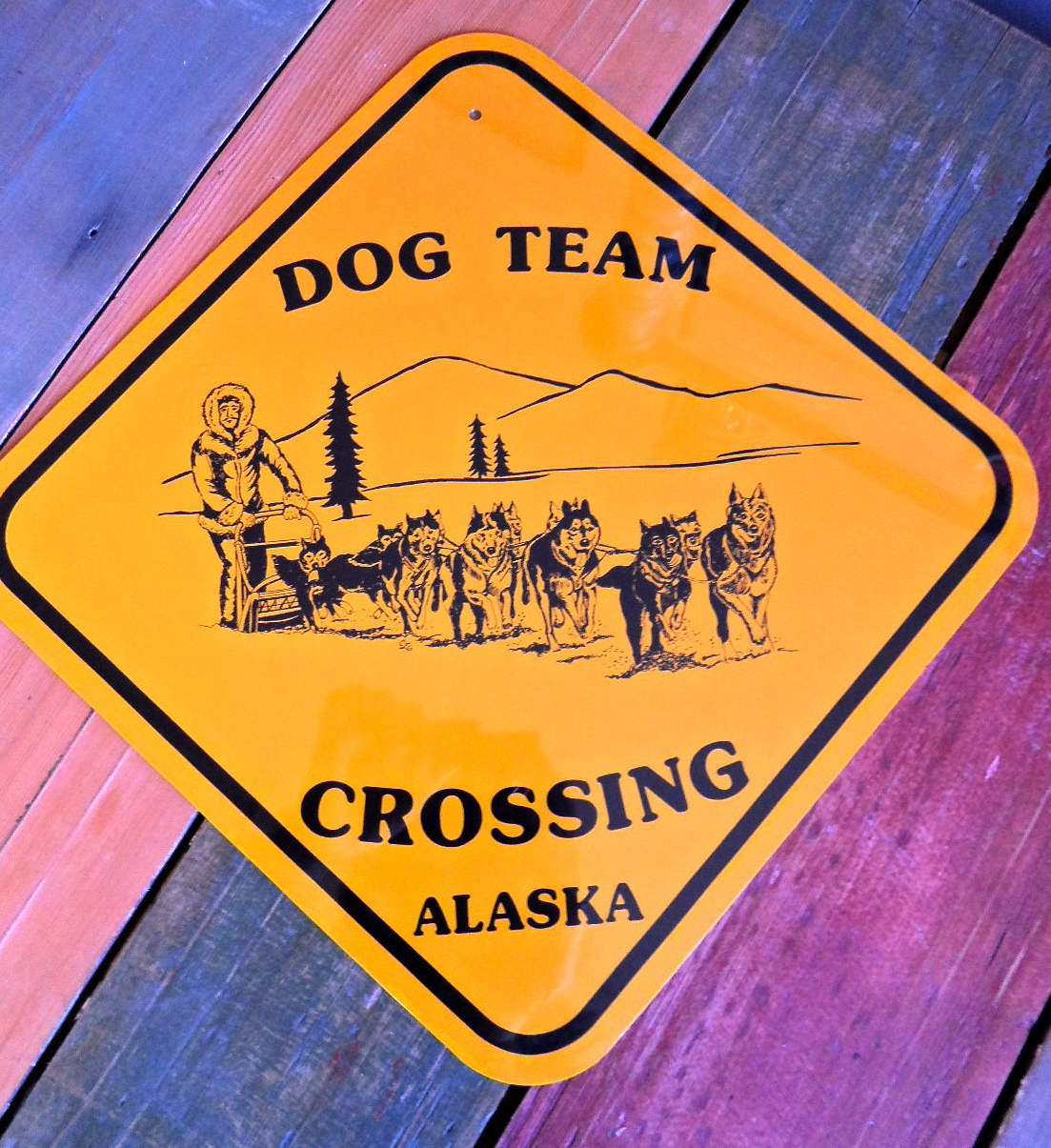 dog team sign
